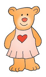 cute Valentine bear with heart