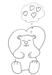 Valentine Day Graphics bear dreaming hearts