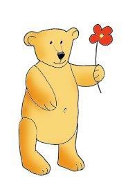 Valentine Teddy with flower