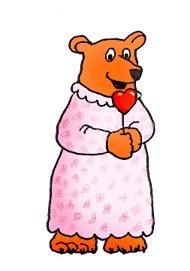 teddy bear with heart lollipop