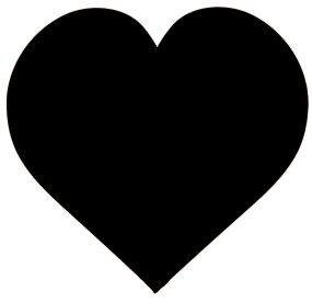 black Valentine heart clipart