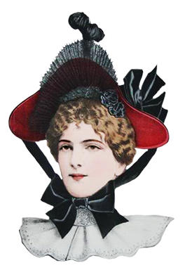 Victorian fashion sketches of hats