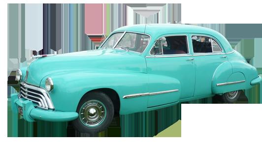 light blue classic car