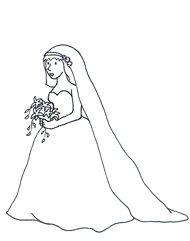 wedding clipart bride bridal bouquet