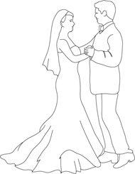 Waltz bride and groom