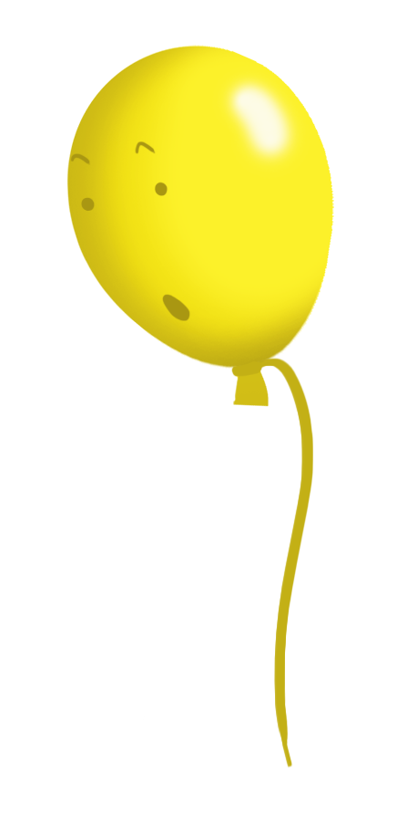 yellow balloon face