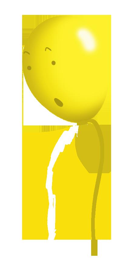 yellow balloon face