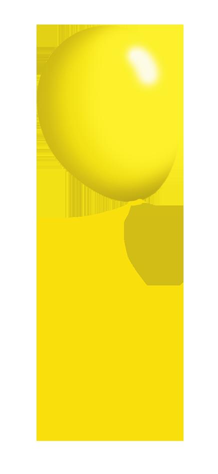 yellow balloon on a string