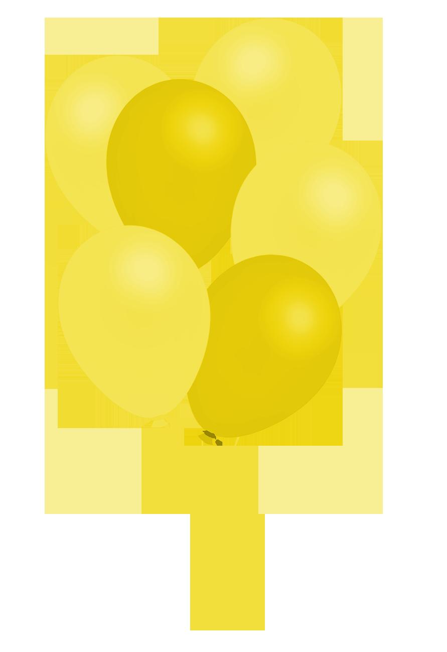 bunch of yellow balloons