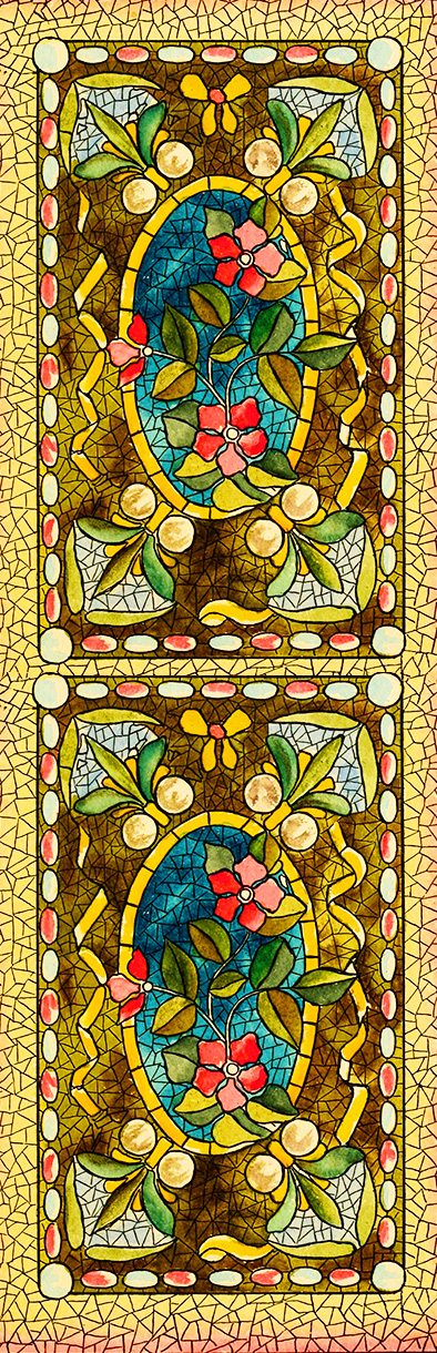 yellow mosaics bookmark