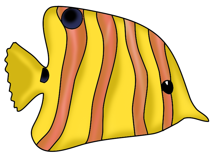 yellow orange fish clip art