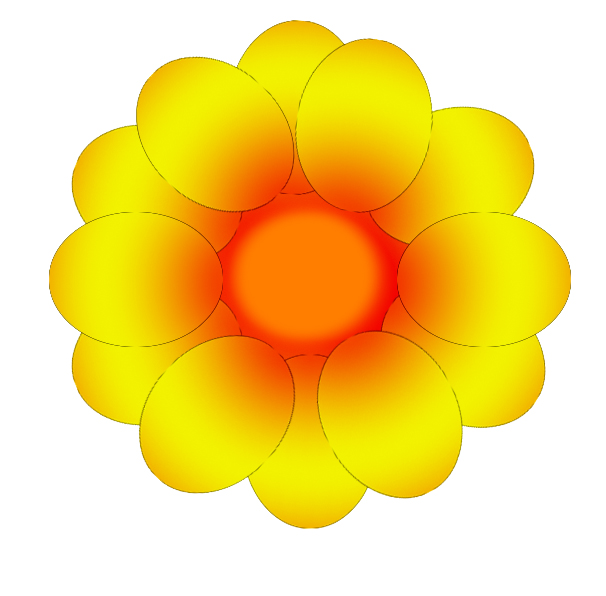 yellow orange flower drawing