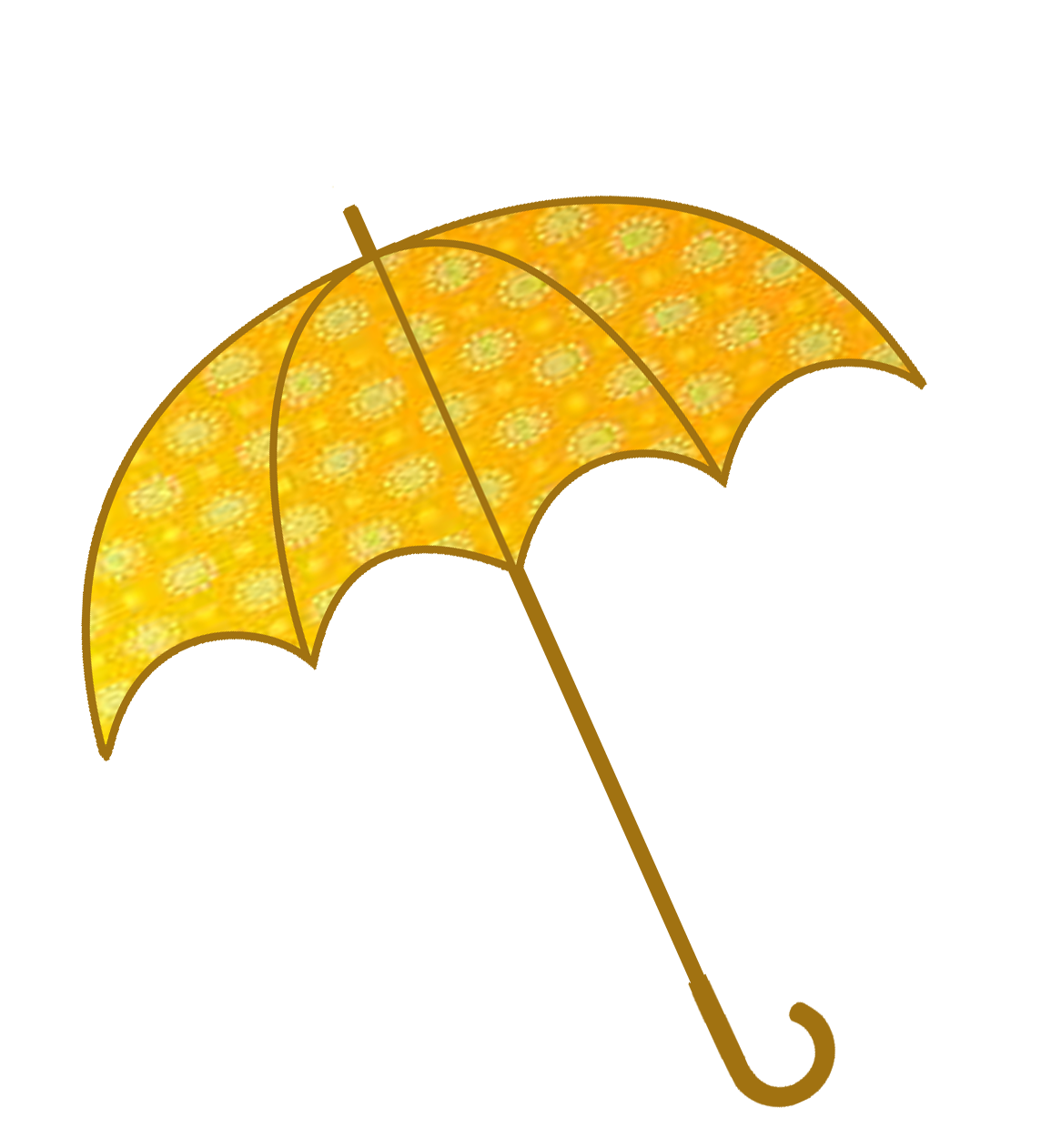 umbrella clipart golden pattern