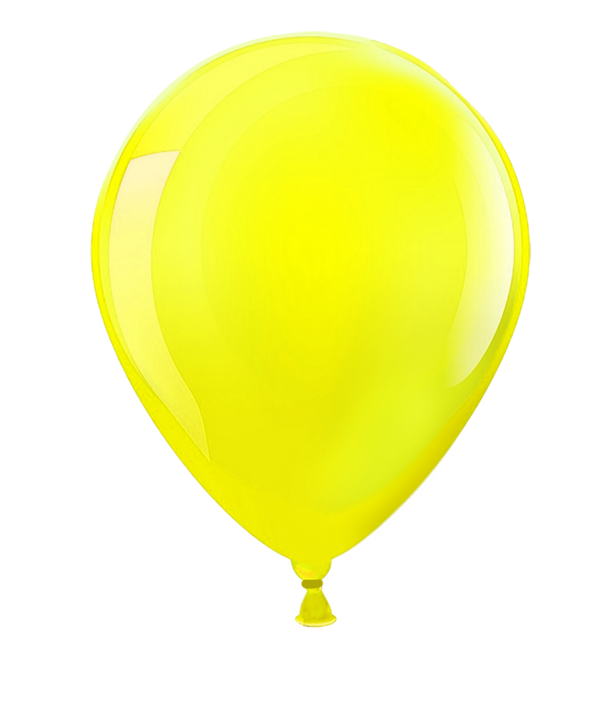 yellow shining balloons images