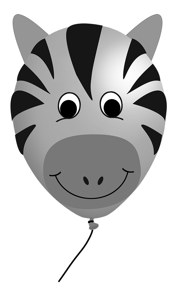 zebra balloon clipart